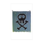Skull Sticker (Rectangle 50 pk)