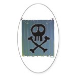 Skull Sticker (Oval 10 pk)