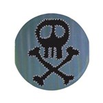 "Skull 3.5"" Button (100 pack)"