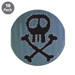 "Skull 3.5"" Button (10 pack)"