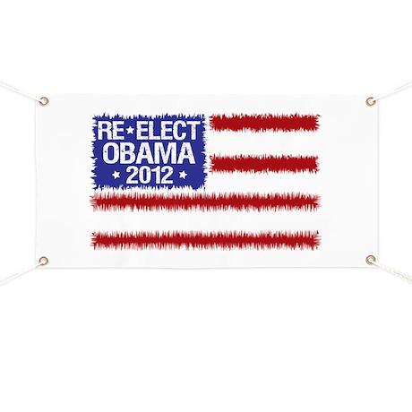 Re-Elect Obama 2012 Banner