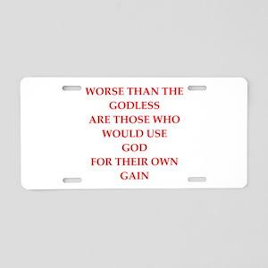 god Aluminum License Plate
