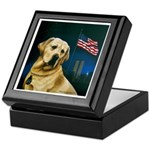 Salute to Sirius Yellow Lab Keepsake Box
