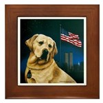 Salute to Sirius Labrador Framed Tile