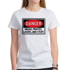 Pirates, Lasers, Ninjas, and Women's T-Shirt