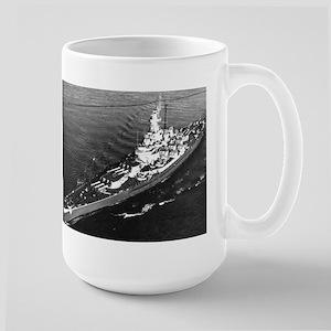 Big Mamie BB 59 Ships Image Large Mug