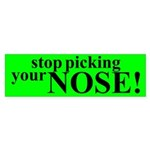Stop PIcking Your Nose Sticker (Bumper 10 pk)