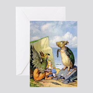 ALICE, THE MOCK TURTLE & THE GRIFFIN Greeting Card
