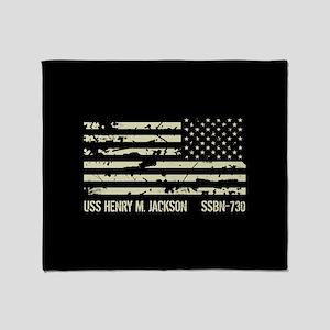 USS Henry M. Jackson Throw Blanket