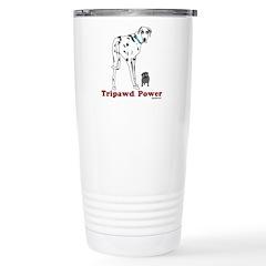 Tripawd Power Stainless Steel Travel Mug