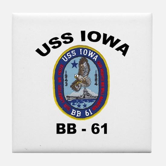 USS Iowa 61 Tile Coaster