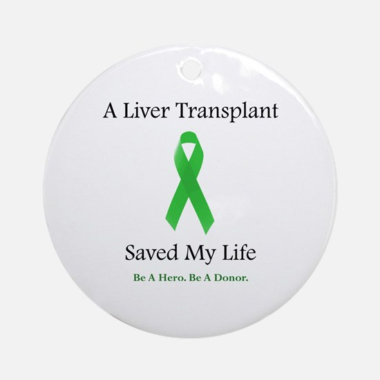 Liver Transplant Survivor Ornament (Round)