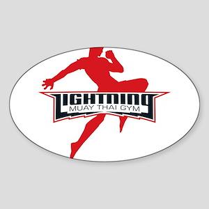 Lightning Muay Thai Sticker (Oval)