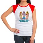 Animals Are Human Too! Women's Cap Sleeve T-Shirt