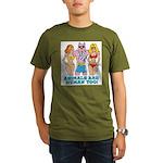 Animals Are Human Too! Organic Men's T-Shirt (dark