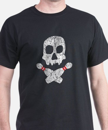 Skull Bowling (scratched) T-Shirt
