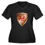 Tea Party Warrior Women's Plus Size V-Neck Dark T-