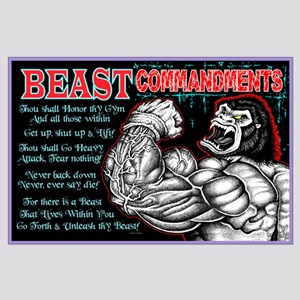 BEAST Commandments Large Poster