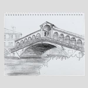 European Sketches Wall Calendar