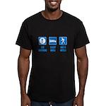Paleo, healthy Men's Fitted T-Shirt (dark)