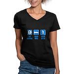 Paleo, healthy Women's V-Neck Dark T-Shirt
