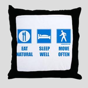 Paleo, healthy Throw Pillow