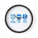 Paleo, healthy Wall Clock