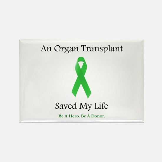 Saving Transplant Rectangle Magnet