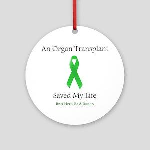 Saving Transplant Ornament (Round)