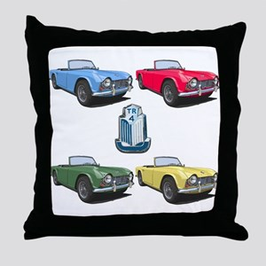 TR4 colors Throw Pillow