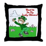Lucky Charms Throw Pillow