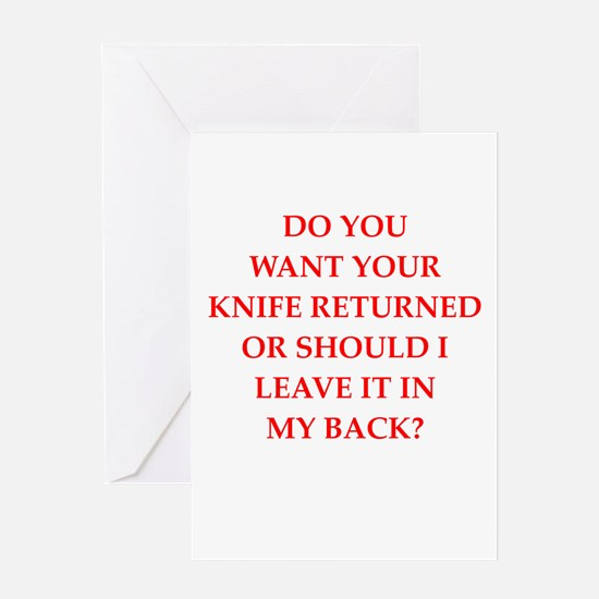 knife Greeting Cards