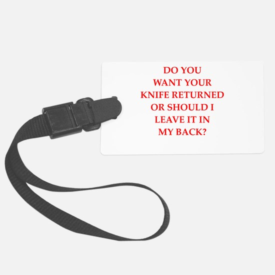 knife Luggage Tag