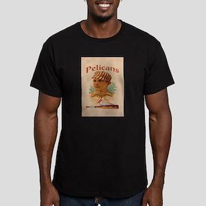 Pelicans Baseball Men's Fitted T-Shirt (dark)