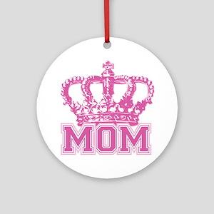 Crown Mom Ornament (Round)
