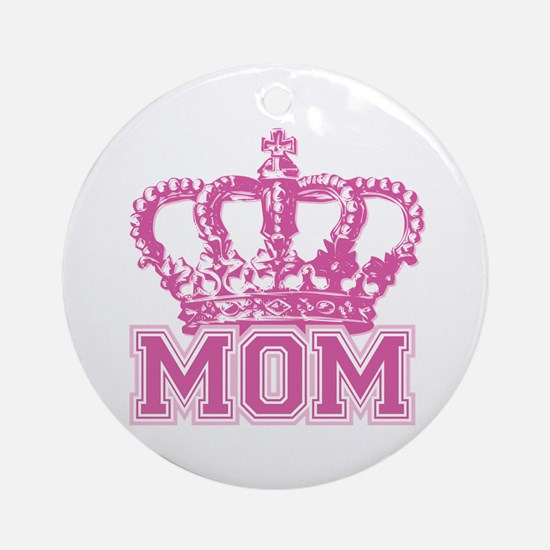 Crown Mom Ornament (Round)