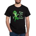 Kiss Me -- I'm Irish Black T-Shirt