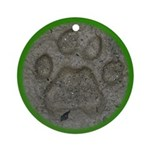 I'd Rather be Tracking Bobcat Ornament (Round)