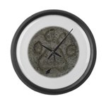 I'd Rather be Tracking Bobcat Large Wall Clock