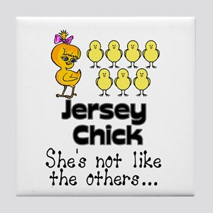 Jersey Chick Tile Coaster