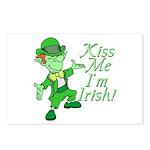 Kiss Me -- I'm Irish Postcards (Package of 8)