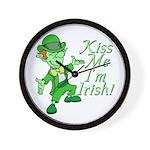 Kiss Me -- I'm Irish Wall Clock