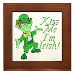 Kiss Me -- I'm Irish Framed Tile