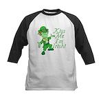 Kiss Me -- I'm Irish Kids Baseball Jersey