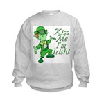 Kiss Me -- I'm Irish Kids Sweatshirt