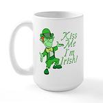Kiss Me -- I'm Irish Large Mug