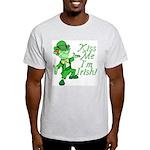Kiss Me -- I'm Irish Ash Grey T-Shirt