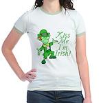 Kiss Me -- I'm Irish Jr. Ringer T-Shirt