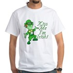 Kiss Me -- I'm Irish White T-Shirt