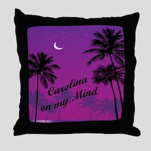 Carolina On My Mind Throw Pillow